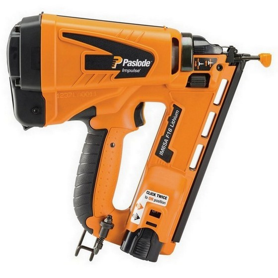 Image of PASLODE IM65A LITHIUM F16 2ND FIX ANGLED BRAD NAILER 1 X LIION BATTERY
