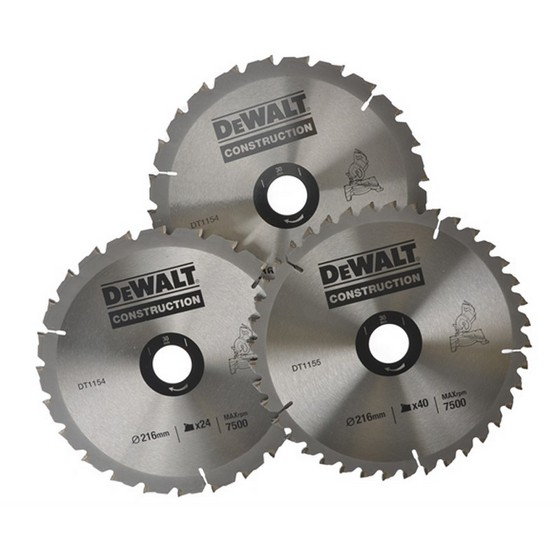 DEWALT DT1172-QZ 216MM (30MM BORE) TRIPLE BLADE SET