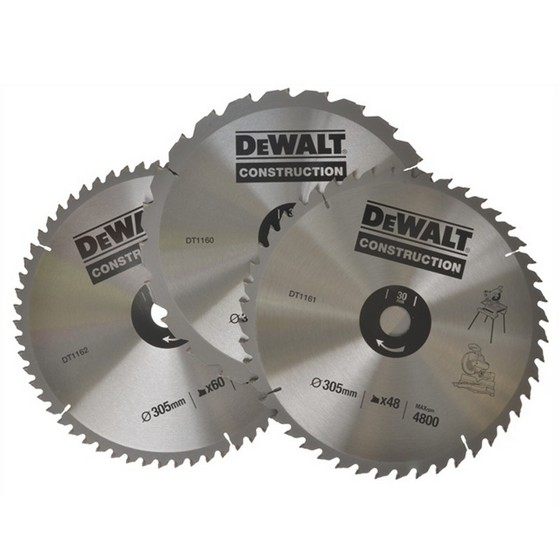 DEWALT DT1174-QZ 305mm TRIPLE BLADE SET (30mm Bore)