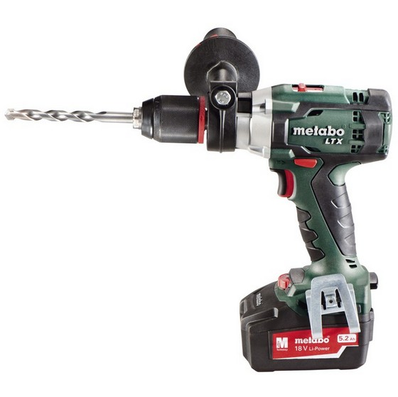 METABO SB18LTX 18V COMBI HAMMER DRILL 2 X 5.2ah Li-ion BATTERIES