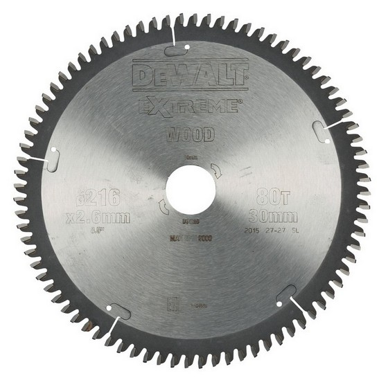 DEWALT DT4286-QZ SERIES 40 NEGATIVE RAKE MITRE SAW BLADE 216mm X 30mm Bore X 80 Teeth