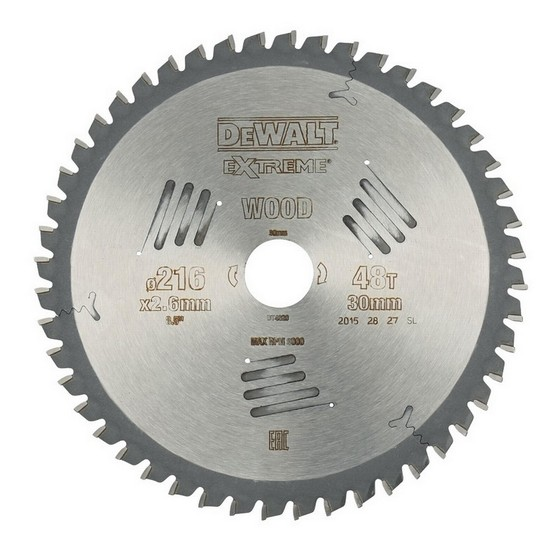 Image of DEWALT DT4320QZ SERIES 60 MITRE SAW BLADE 216MM X 30MM X 48T