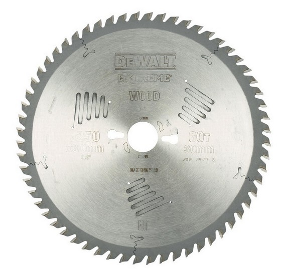 DEWALT DT4351-QZ SERIES 60 MITRE SAW BLADE 250mm X 30mm Bore X 60 Teeth