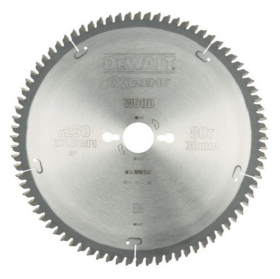 DEWALT DT4287-QZ SERIES 40 NEGATIVE RAKE MITRE SAW BLADE 250mm X 30mm Bore X 80 Teeth