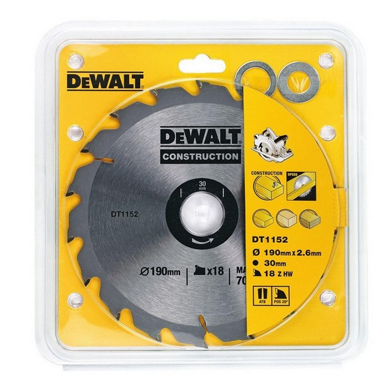 Image of Dewalt Dt1152qz Series 30 Circular Saw Blade 190mm X 30mm X 18t