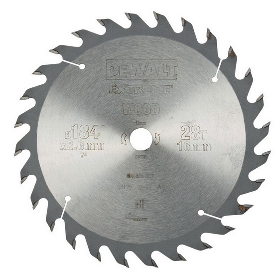 DEWALT DT4031-QZ SERIES 40 CIRCULAR SAW BLADE 184mm X 16mm Bore X 28 Teeth
