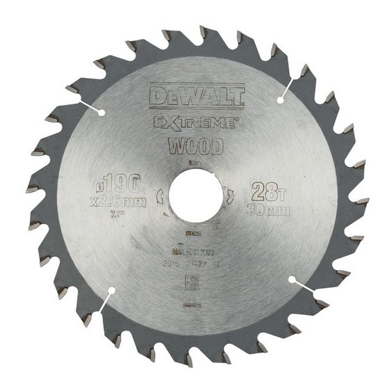 Image of DEWALT DT4033QZ SERIES 40 CIRCULAR SAW BLADE 190MM X 30MM X 28T