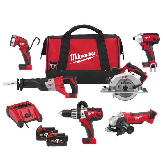 MILWAUKEE M18PP6B-402C 18V 6 PIECE KIT 2 X 4.0ah Li-ion BATTERIES