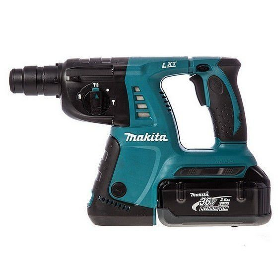 MAKITA DHR262RDE 36V SDS+ HAMMER DRILL 2x2.6ah LI-ION BATTERIES