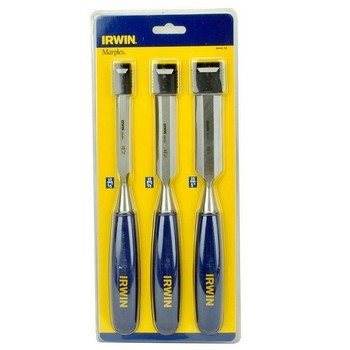 Image of Irwin Marples M444 Blue Chip Bevel Edge Chisel Set Of 3