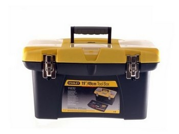 Stanley STA192906 Jumbo Toolbox 19in with Tote Tray and organiser compartments