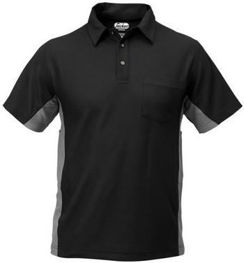 SNICKERS ACTIVE VAPORISE POLO SHIRT BLACK / GREY 2636 0418