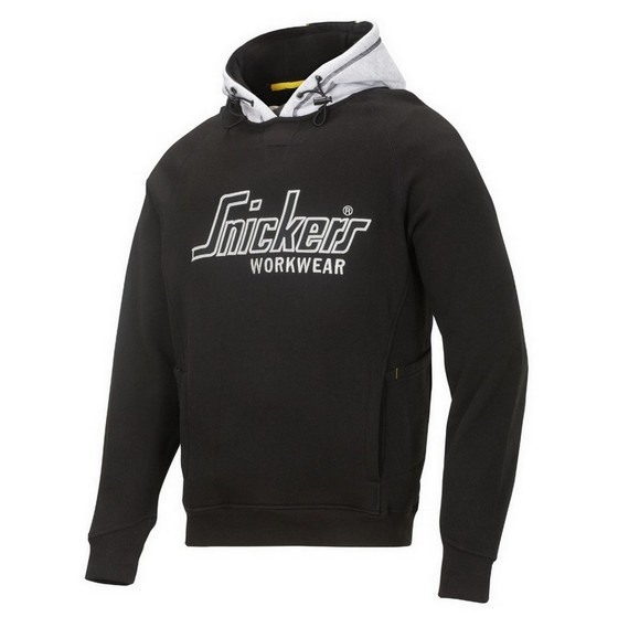 SNICKERS SWEATSHIRT HOODIE BLACK / GREY 2808 0418