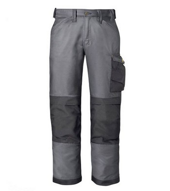 Image of Snickers Dura Twill Trousers Black Grey 3312 7404 W35 x L32