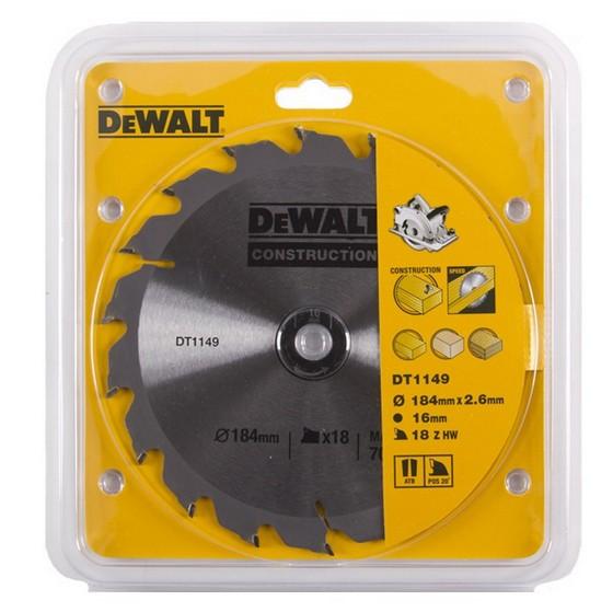 Anglia Tool Centre DEWALT DT1149QZ SERIES 30 CIRCULAR SAW BLADE 184MM X 16MM X 16T