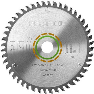 FESTOOL 491952 FINE TOOTH SAW BLADE 160X2.2X20 W48 TOOTH