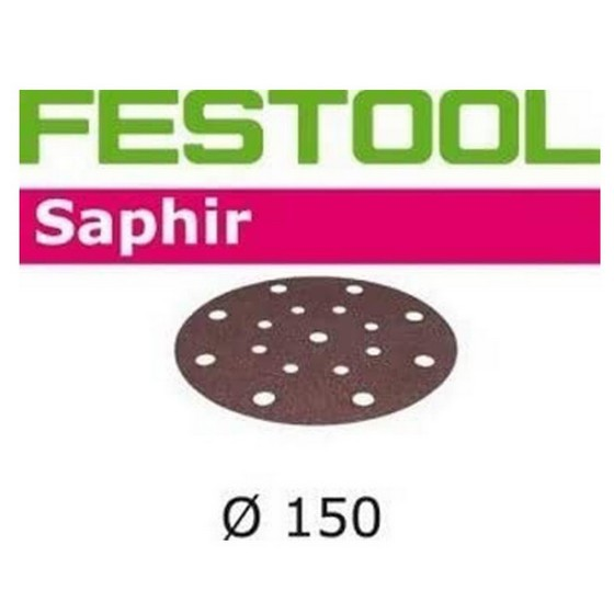 FESTOOL 496622 STF-D150/16 P50 SANDING DISCS 150MM PACK OF 5