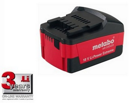 METABO 18V 3.0ah Li POWER EXTREME BATTERY