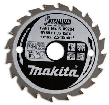MAKITA B-09204 TRIM SAW BLADE 85mm X 15mm BORE FOR MAKITA HS300 & 5093