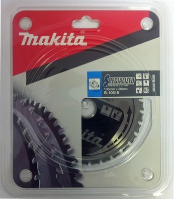 MAKITA B-10615 136mm x 20mm BORE TCT SAW BLADE FOR METAL