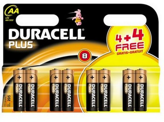 DURACELL AA BATTERIES PACK OF 8 XMS11BATTAA