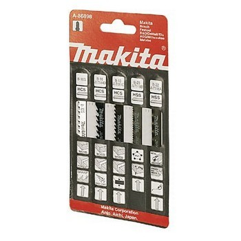 MAKITA A-86898 ASSORTED JIGSAW BLADES (Pack 5)