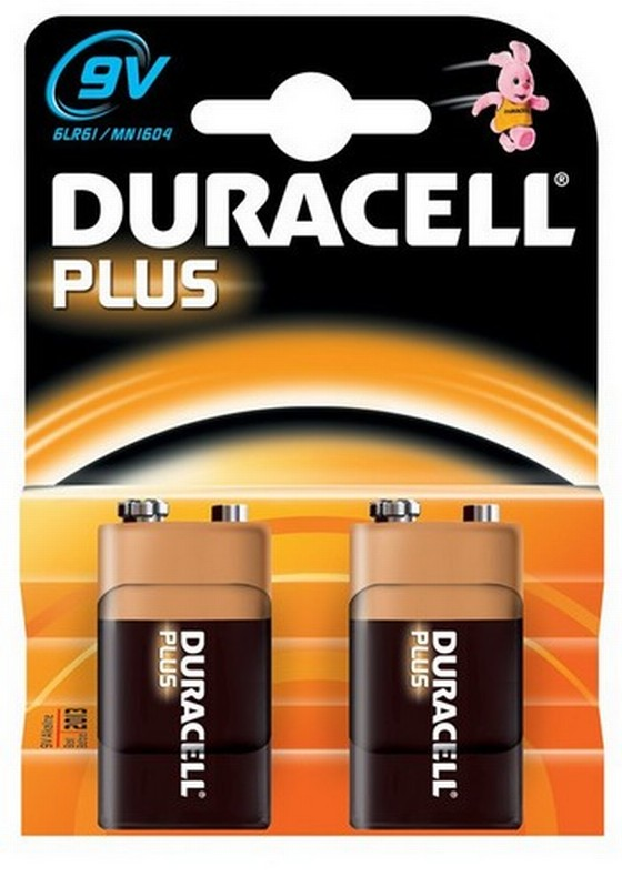 DURACELL 9V BATTERIES PACK OF 2 XMS11BATT9V