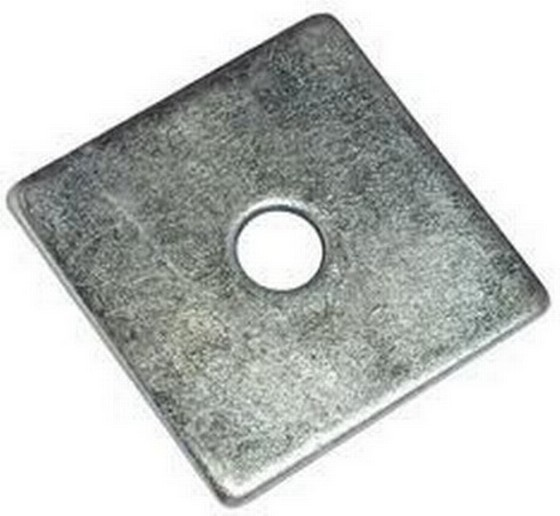 Square Plate Washer M12X2 Inch Bright Zinc Plated
