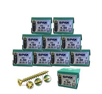 SPAX SCREWS POZI CSK BOX 200 4 X 50MM 10 BOXES DEAL