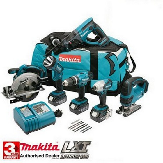 MAKITA DK1829 6 PIECE CONTRACTORS KIT WITH 3 X 3.0AH Li-ION BATTERIES