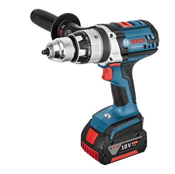 BOSCH GSB18VE2LIRS 18V HEAVY DUTY 18V COMBI HAMMER DRILL WITH 2X 40AH LIION BATTERIES