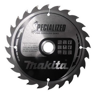 MAKITA B-09173 165MM X 20MM X 24 TOOTH SPECIALISED CIRCULAR SAW BLADE