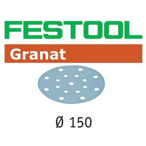 Image of FESTOOL 575166 GRANAT STFD15016 150MM SANDING DISCS 180 GRIT PACK OF 100