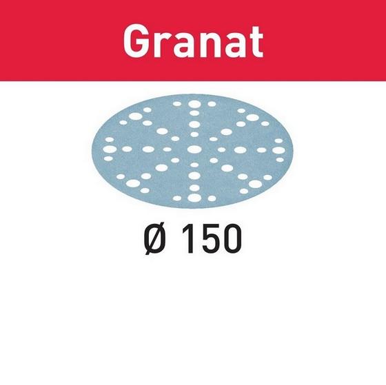 Image of FESTOOL 575168 GRANAT STFD15016 150MM SANDING DISCS 240 GRIT PACK OF 100