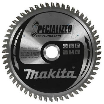 Makita B-10344 165mm x 20mm x  48 Tooth Corian Circular Saw Blade for SP6000