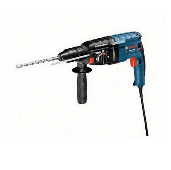 Image of BOSCH GBH224D 2KG SDS HAMMER DRILL 240V FREE 8 PIECE SDS CHISEL & DRILL SET