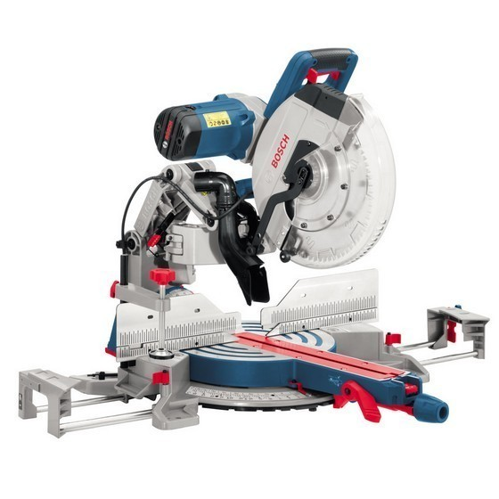 Image of Bosch Gcm12gdl 305mm Gliding Arm Double Bevel Mitre Saw 110v