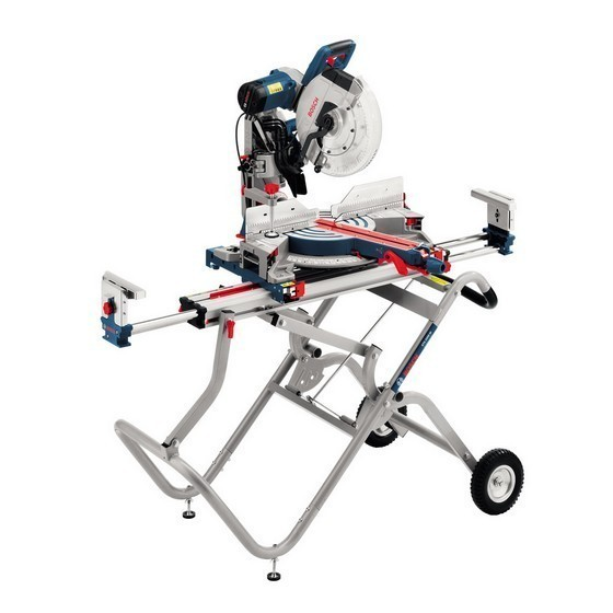 Image of Bosch Gcm12gdl 305mm Gliding Mitre Saw 240v Gta2500 Legstand