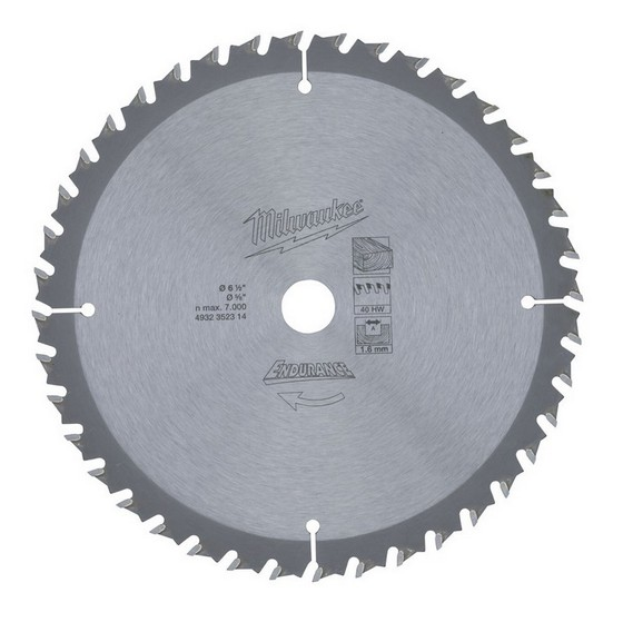 MILWAUKEE 4932352314 CIRCULAR SAW BLADE 165 x 15.8 x 40T FOR HD18CS