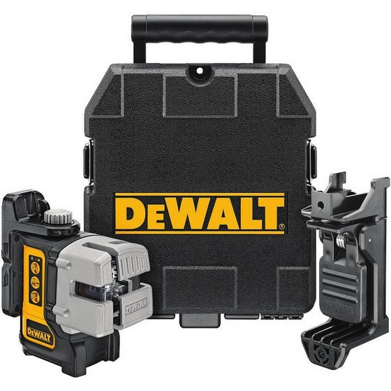 DEWALT DW089K 3 WAY SELF LEVELING ULTRA BRIGHT MULTI LINE LASER LEVEL