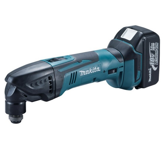 MAKITA BTM50RFX1 18V OSCILLATING MULTI TOOL WITH 1x3.0ah Li-ION BATTERY AND 24 ACCESSORIES