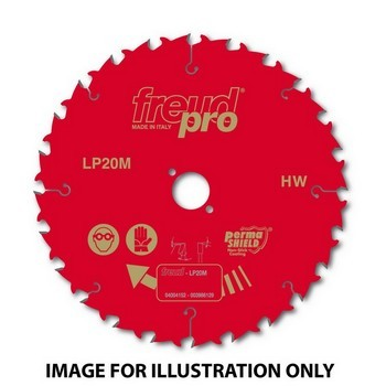 FREUD LP20M 015 PRO TCT CIRCULAR SAW SAW BLADE 190mm X 30mm X 12 TOOTH