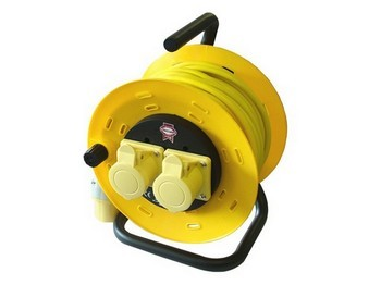 FAITHFULL FPPCR50ML 50 METRE 2 SOCKET CABLE REEL 110V
