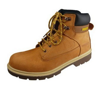 STERLING / WORKSITE NUBUCK SAFETY BOOT WITH STEEL TOECAP HONEY SIZE 08