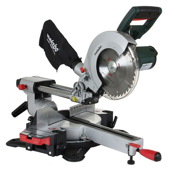 Image of Metabo Kgs254m 254mm Sliding Mitre Saw 1800 Watt 240v