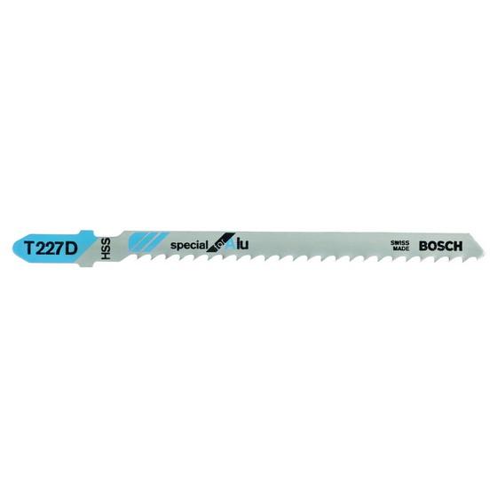 Image of Bosch 2608631030 Pack Of 5 T227d Aluminium Cut Jigsaw Blades 315mm