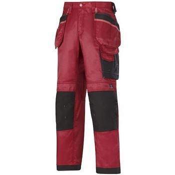 SNICKERS DURA TWILL TROUSERS & HOLSTERS CHILLI RED / BLACK 3212 1604 (32 INCH LEG)