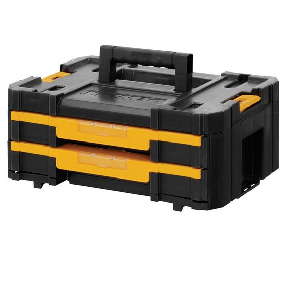 Image of DEWALT DWST170706 TSTAK 4 2 DRAWER STORAGE CASE