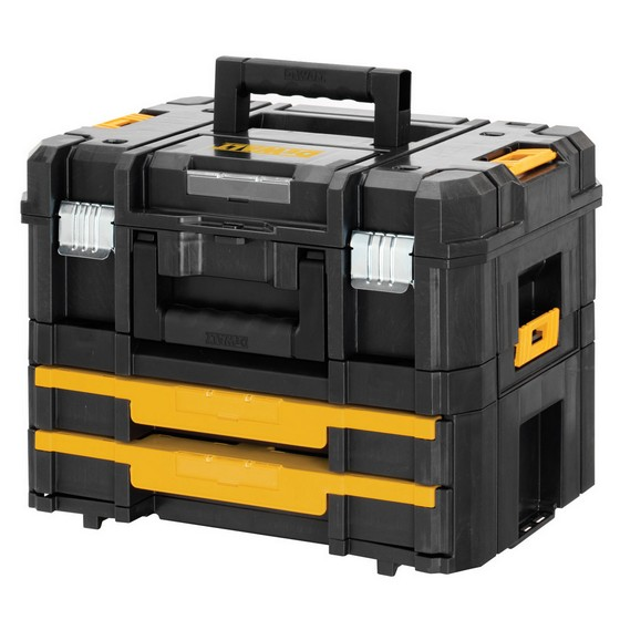 Image of DEWALT DWST170702 TSTAK COMBO 2 4 TOOL STORAGE BOX AND 2 DRAWER STORAGE UNIT