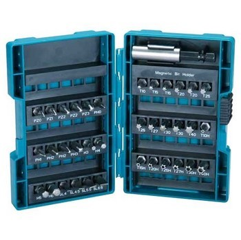 Image of MAKITA B28606 37 PIECE MIXED SCREWDRIVER BIT SET IN ROBUST CASE